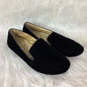 Birdies Black Starling Velvet Loafer 8.5